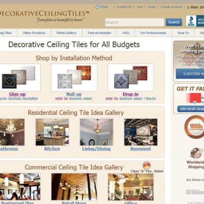 Decorative Ceiling Tiles Portfolio
